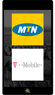 Logos MTN and T-Mobile, Araxxe customers in Revenue Assurance, Billing Verification & Telecom Fraud Detection
