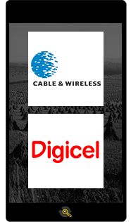 Logos Cable Wireless and Digicel, Araxxe customers in Revenue Assurance, Billing Verification & Telecom Fraud Detection