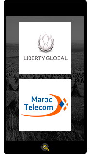 Logos Liberty Global and Maroc Telecom, Araxxe customers in Revenue Assurance, Billing Verification & Telecom Fraud Detection