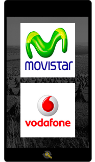 Logos Movistar and Vodafone, Araxxe customers in Revenue Assurance, Billing Verification & Telecom Fraud Detection