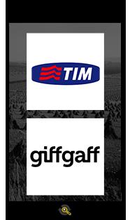 Logos TIM and Giffgaff, Araxxe customers in Revenue Assurance, Billing Verification & Telecom Fraud Detection