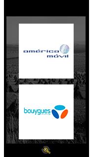 Logos America Movil and Bouygues Telecom, Araxxe customers in Revenue Assurance, Billing Verification & Telecom Fraud Detection