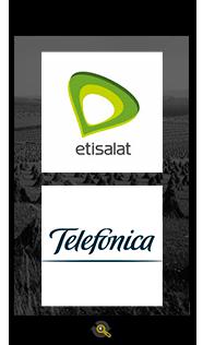 Logos Etisalt and Telefonica, Araxxe customers in Revenue Assurance, Billing Verification & Telecom Fraud Detection