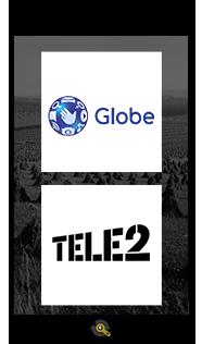 Logos Globe and Tele 2, Araxxe customers in Revenue Assurance, Billing Verification & Telecom Fraud Detection