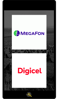 Logos Magafon and Digicel, Araxxe customers in Revenue Assurance, Billing Verification & Telecom Fraud Detection