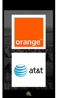Logos Orange and ATT, Araxxe customers in Revenue Assurance, Billing Verification & Telecom Fraud Detection