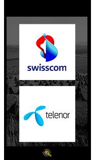 Logos Swisscom and Telenor, Araxxe customers in Revenue Assurance, Billing Verification & Telecom Fraud Detection