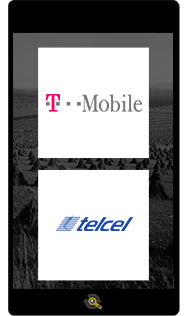 Logos T-Mobile and Telcel, Araxxe customers in Revenue Assurance, Billing Verification & Telecom Fraud Detection