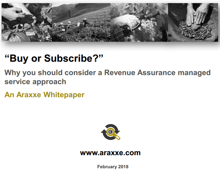 Blog - Revenue Assurance - Buy or Subscribe