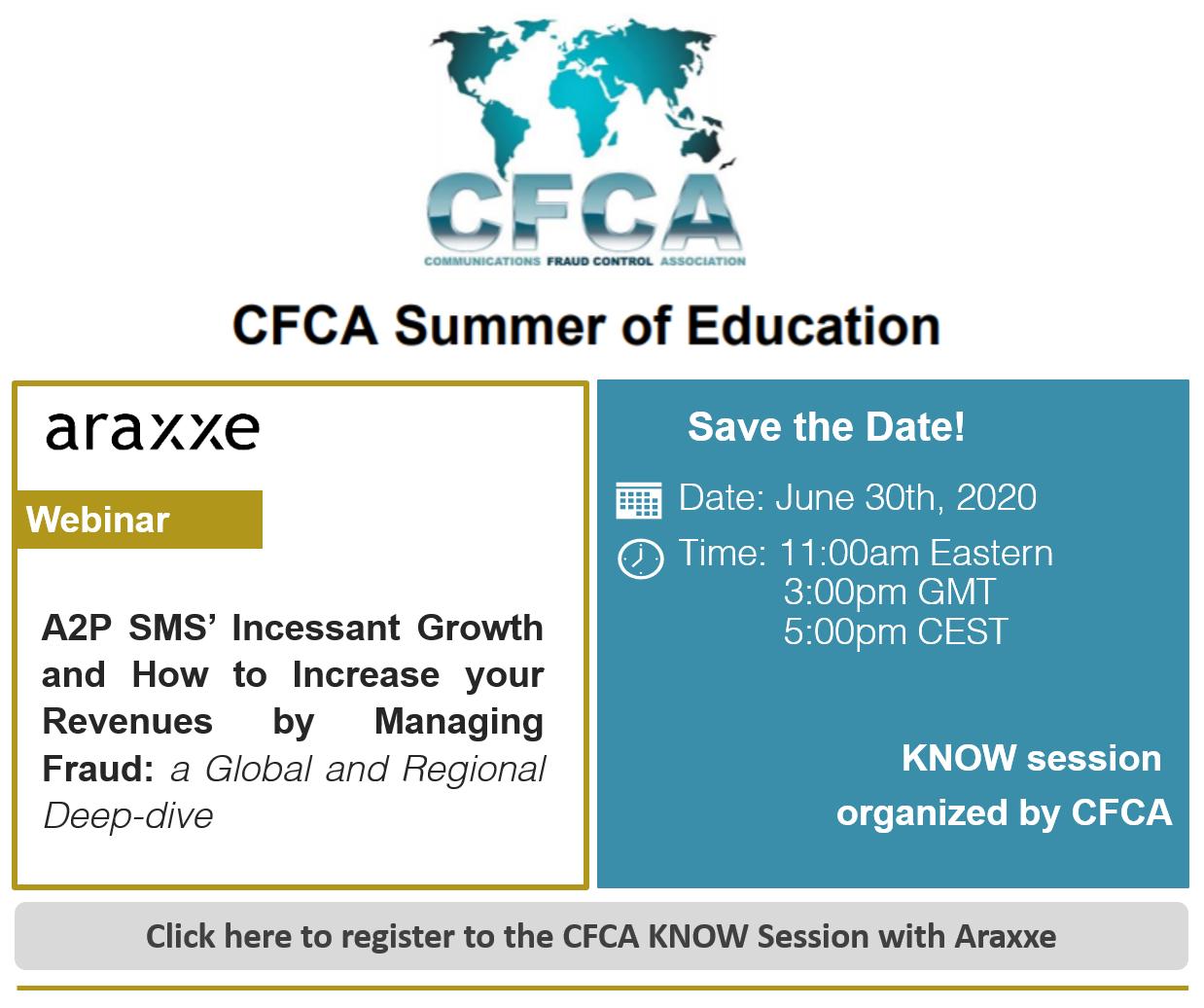 Events - EN - CFCA & Araxxe Webinar - A2P SMS Americas -2