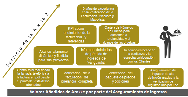 Valores Añadidos de Araxxe por parte del Aseguramiento de Ingresos